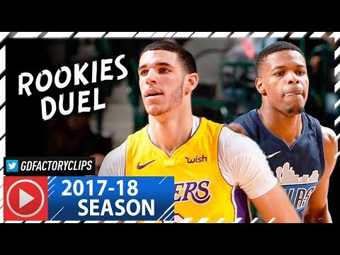 Lonzo Ball vs Dennis Smith Jr. ROOKIES Duel Highlights (2018.01.13) Lakers vs Mavericks - SICK!