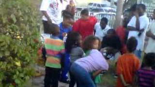 Lil kids on 9th street in st pete on MLK day.. Rappin to Snatchin by Tae Bae Bae.