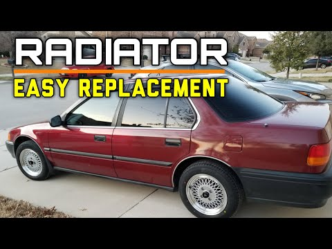 DIY:B16 Honda Civic CRX 1.5L & 1.6L Radiator Replacement – Bundys Garage
