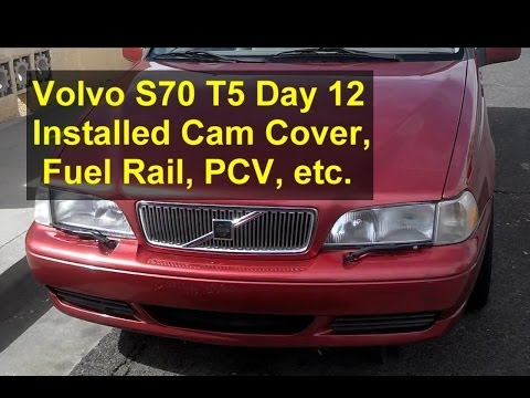 Volvo S70 T5 restoration day 12, install cam cover, PCV, fuel rail, etc. – Auto Repair Series