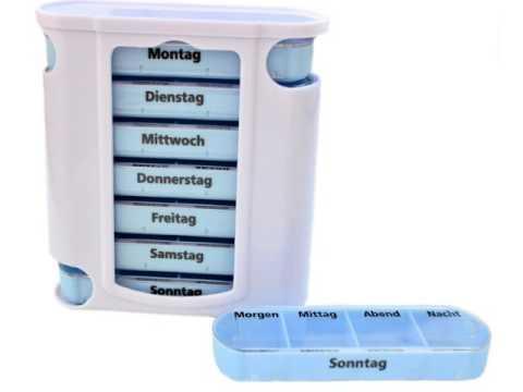 M&H-24 - Medikamentendosierer Pillendose Pillenbox Tablettendose Tablettenbox Wochendosierer 7 Tage