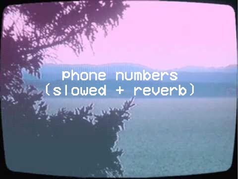 Dominic Fike - Phone Numbers (slowed + Reverb)