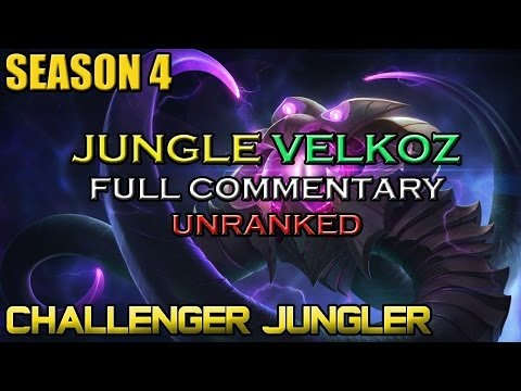 ✔ Challenger Jungle Velkoz Ep. 29 | UNRANKED | Full Commentary | League of Legends (видео)