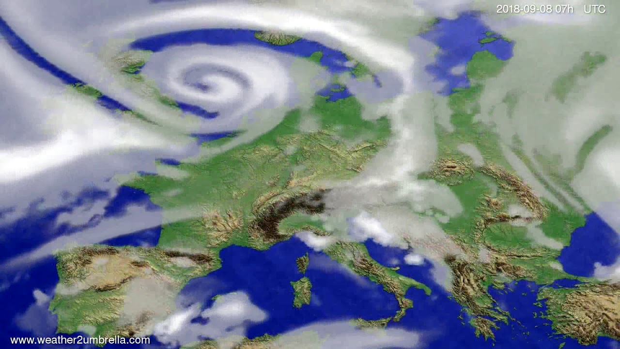Cloud forecast Europe 2018-09-04
