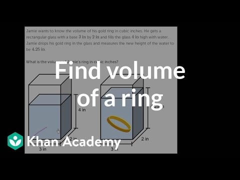 Volume word problem gold ring video khan academy ccuart Gallery