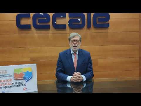 Inauguración. Presidente de CECALE