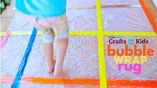 Fun sensory craft for kids: Make a Bubble Wrap Rug! For the full craft, click here: http://www.pbs.org/parents/crafts-for-kids/bubble-wrap-rug/Subscribe to PBS Parents on YouTube for new videos every Wednesday: http://www.youtube.com/subscription_center?add_user=pbsparentspicksCrafts for Kids is a weekly series that encourages parents and kids to spend time together making fun and simple projects. Brought to you by PBS Parents and Ana Dziengel of Babble Dabble Do. Music provided by APM.