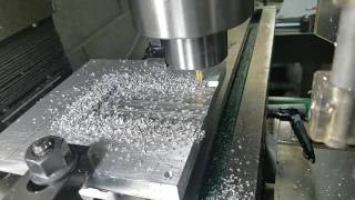 Milling some aluminum for a filter paper curing oven.