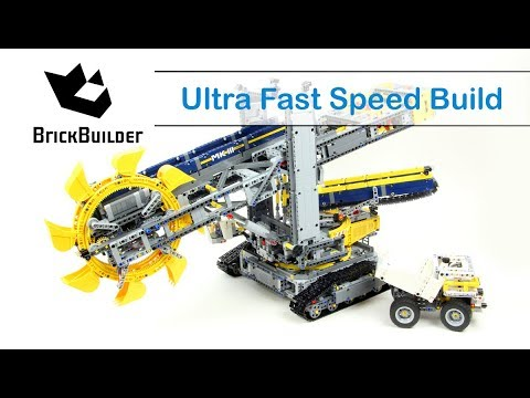 Ultra Fast Speed Build Lego Technic 42055 Bucket Wheel Excavator