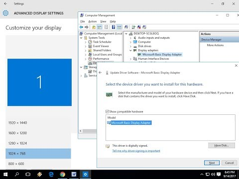 Easily Install Display Driver for your Laptop/PC Windows 10/8.1/7