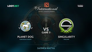 Planet Dog vs Singularity, Game 3, The International 2017 EU Qualifier