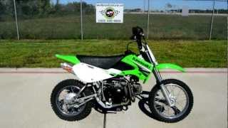 9. 2005 Kawasaki KLX110 Pit Bike with Two Brothers Exhaust and More