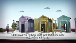 Számlanyitással kapcsolatos videó az MNB-től