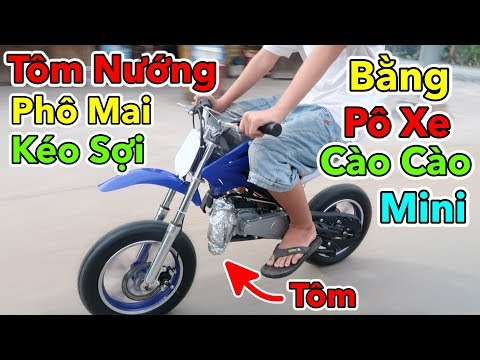 Lâm Vlog - Tôm Nướng Phô Mai Mozzarella Bằng Pô Xe Moto Cào Cào Mini 50cc - Thời lượng: 11:11.