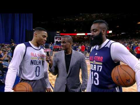 Westbrook and Harden Praise Each Other During Interview