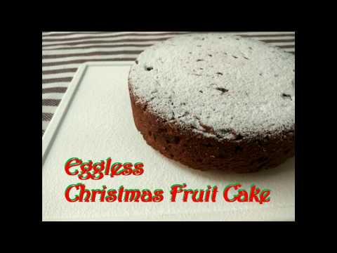 Eggless no-alcohol Christmas fruit cake recipe | No-sugar | No-refined flour