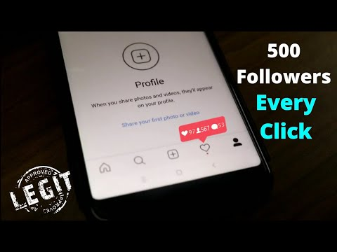 How to Increase Instagram Followers 2018   500 Followers Per Click
