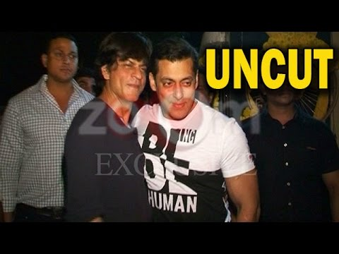 UNCUT - Salman Khan and Shahrukh Khan at Salman Kh