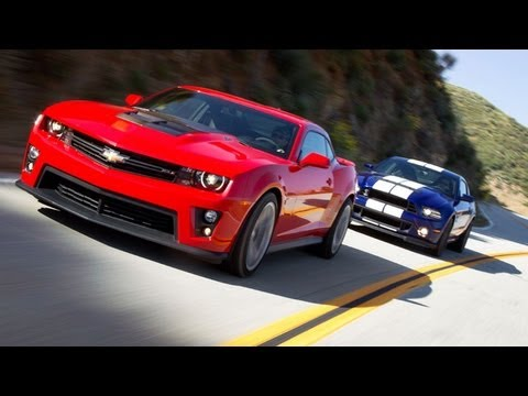 Ford Shelby GT500 vs Camaro ZL1 Track Test Video