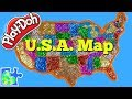 US Map for Kids! Learn the United States of America! Play-Doh Puzzle of The USA || US Map