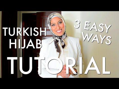 Beautiful Turkish Hijab Style 3 Ways Tutorial - Haute Hijab