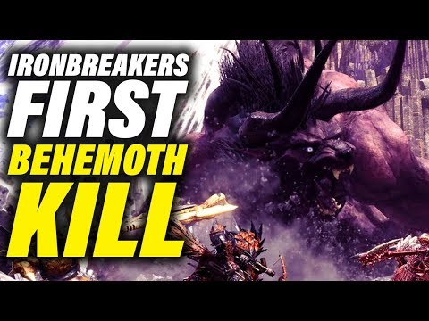 IRONBREAKERS VS BEHEMOTH - The First Kill... - Monster Hunter World