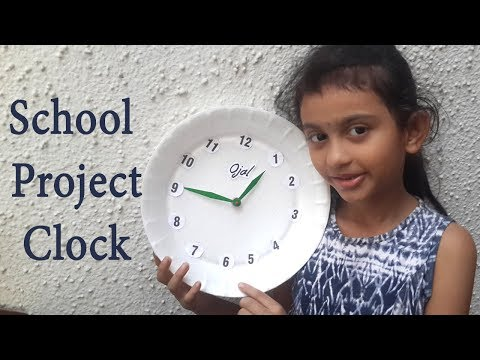 School Project Clock/ How To Make Clock /DIY
