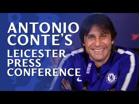 Antonio Conte Press Conference | Leicester v Chelsea (видео)