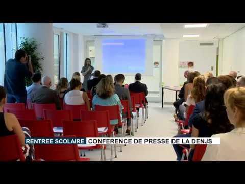 Rentrée scolaire : conférence de presse de la DENJS