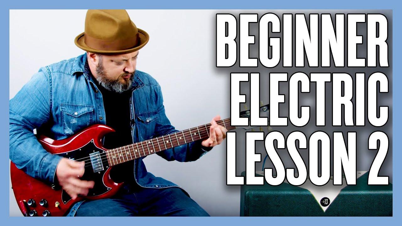 Beginner Electric Guitar Lesson 2 (1 Finger Power Chords)