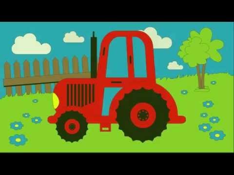 Kolorowanka Kolorowanie Traktora Nauka Kolorów Dla Dzieci