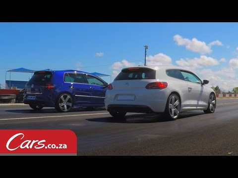 Drag Race: Modified VW Scirocco R vs Stock VW Golf 7 R