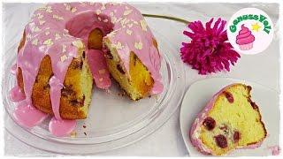 Rezept für einen unglaublich saftigen Joghurt-Kirsch-Kuchen mit einem pinken Zuckerguss  einfacher RührkuchenFolgt mir doch auch auf folgenden Plattformen. Ihr könnt mir darüber auch sehr gern Bilder von Euren Werken schicken :)FACEBOOK: https://www.facebook.com/GenussVoll88INSTAGRAM: https://www.instagram.com/genussvoll_yt/Ich habe mich mit Annett vom Kanal Annetts Backstübchen und Kerstin vom Kanal Kerstins Küchentraum zusammengetan. Gemeinsam stellen wir Euch tolle Ideen für den Muttertag vor.Hier kommt ihr zu den Kanälen der beiden :Annetts Backstübchen: https://www.youtube.com/channel/UCmArt_e_3nseCVRGrgjkgYQKerstins Küchentraum: https://www.youtube.com/channel/UCWjzT1MI6pOsPaScOdZ5txwBei mir gibt es einen richtig frischen und leckeren Joghurt-Kirsch-Kuchen. Er ist wirklich sehr schnell gemacht und schmeckt so unglaublich lecker und saftig!Zutaten für eine Guglhupfform:4 Eier220g Zucker1 EL (oder ein Päckchen) Vanillezucker250g neutrales Pflanzenöl (z.B. Rapsöl)250g Naturjoghurt300g Mehl3 TL Backpulvereine Prise Salzein Glas KirschenGebacken wird der Kuchen bei 180°C Ober- und Unterhitze für 45 - 60 Minuten (bei mir hat er 55 Minuten gebraucht). Macht gegen Ende hin immer mal wieder die Stäbchenprobe!für den Zuckerguss:ca. 200g PuderzuckerKirschsaft nach BedarfAnmerkung: Ihr solltet den Zuckerguss erst kurz vorm Servieren draufmachen. Der Kuchen ist so saftig, dass sich der Guss bei mir nach einem Tag bereits angefangen hat sich aufzulösen, das habe ich auch noch nie erlebt :D Der Kuchen hält sich mehrere Tage frischIch wünsche Euch ganz viel Spaß beim Nachmachen und gutes Gelingen :) Lasst mir gern Feedback da!Eure AnnikaDas gezeigte Bildmaterial wurde ausschließlich von mir aufgenommen, daher besitze ich das volle Eigentumsrecht.Die Hintergrundmusik ist Gemafreie Musik zur freien Verwendung freigegeben.Music from Epidemic Sound (http://www.epidemicsound.com)__Meine BackutensilienRührmaschine: http://amzn.to/2btkk83 (ich habe das Vorgängermodell und bin sehr z