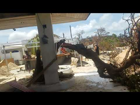 Sapphire beach St. Thomas, USVI after Hurricane Irma