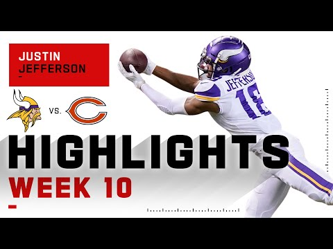 Justin Jefferson Conquers the Bears w/ 135 Receiving Yds   NFL 2020 Highlights