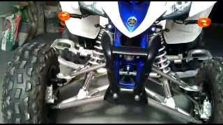9. Yamaha YFM Raptor 350 special edition white