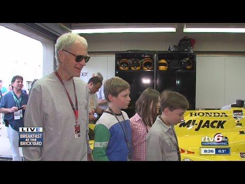 David Letterman back in his team's garage