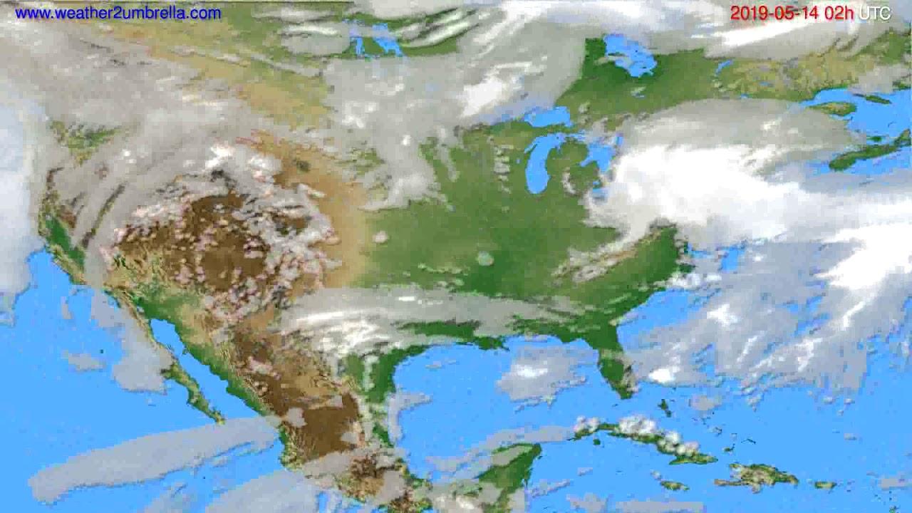 Cloud forecast USA & Canada // modelrun: 12h UTC 2019-05-11