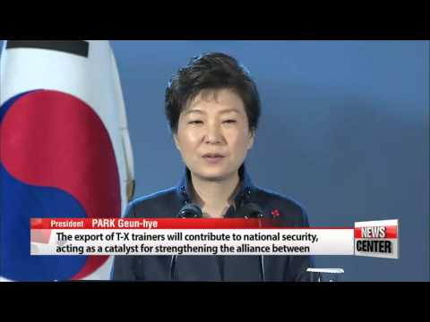 박 대통령, 미국 수출형 훈련기(T-X) 공개 기념식 참석 It′s...