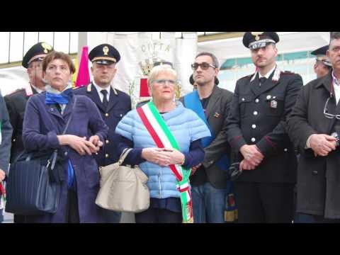 Angelo Lino Murtas recita i versi dedicati all'amico Antonio Montirano morto nella strage di Capaci,