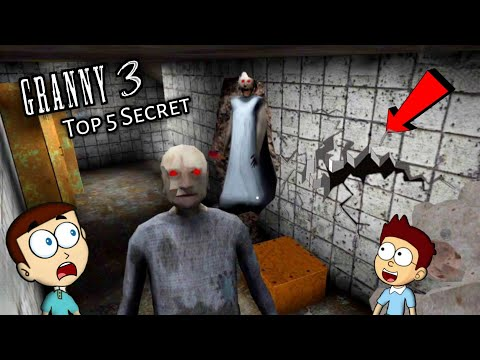Granny 3 : Top 5 Secret After Train Escape   Shiva and Kanzo Gameplay