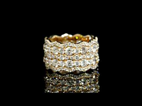 Lady's 18k Rose Gold 4.99ct (TDW) Diamond Eternity Band