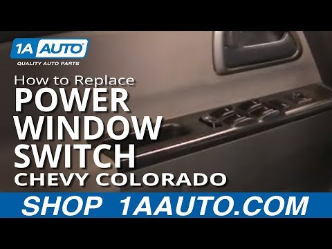 How To Install Replace Master Power WIndow Switch Chevy Colorado 04-12 1AAuto.com