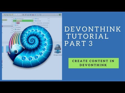 Devonthink tutorial part 3-content type and templates
