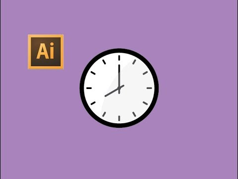 Illustrator - Wall Clock For Beginner | Adobe Illustrator Tutorial