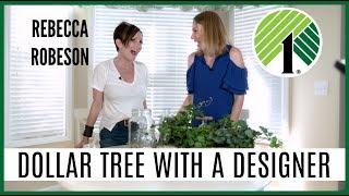 Dollar Tree Shop With Me + DIYS with Interior Designer Rebecca Robeson!