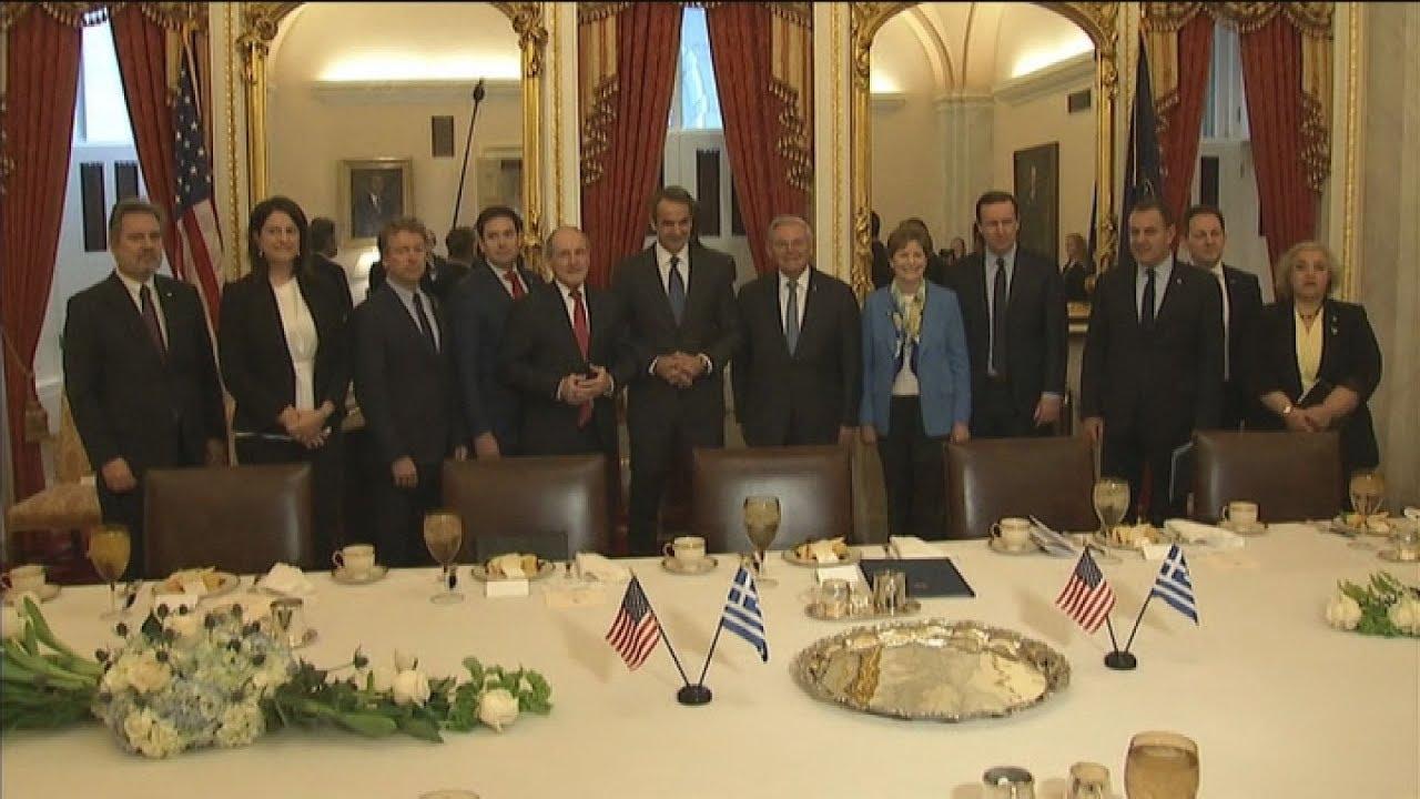 Ο πρωθυπουργός Κ. Μητσοτάκης συναντήθηκε στο Κογκρέσο με μέλη της Γερουσίας και τη Νάνσι Πελόζι