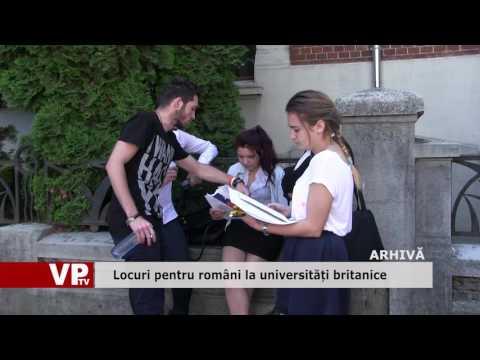Locuri pentru români la universități britanice