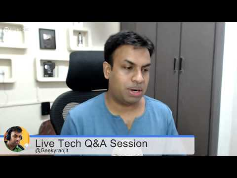 #90 Live Tech Q&A Session with Geekyranjit  7 July 2015