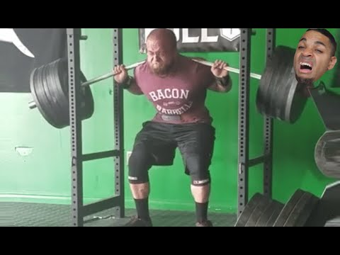 4 Minutes Of Squat Fails - When The Bar Bends
